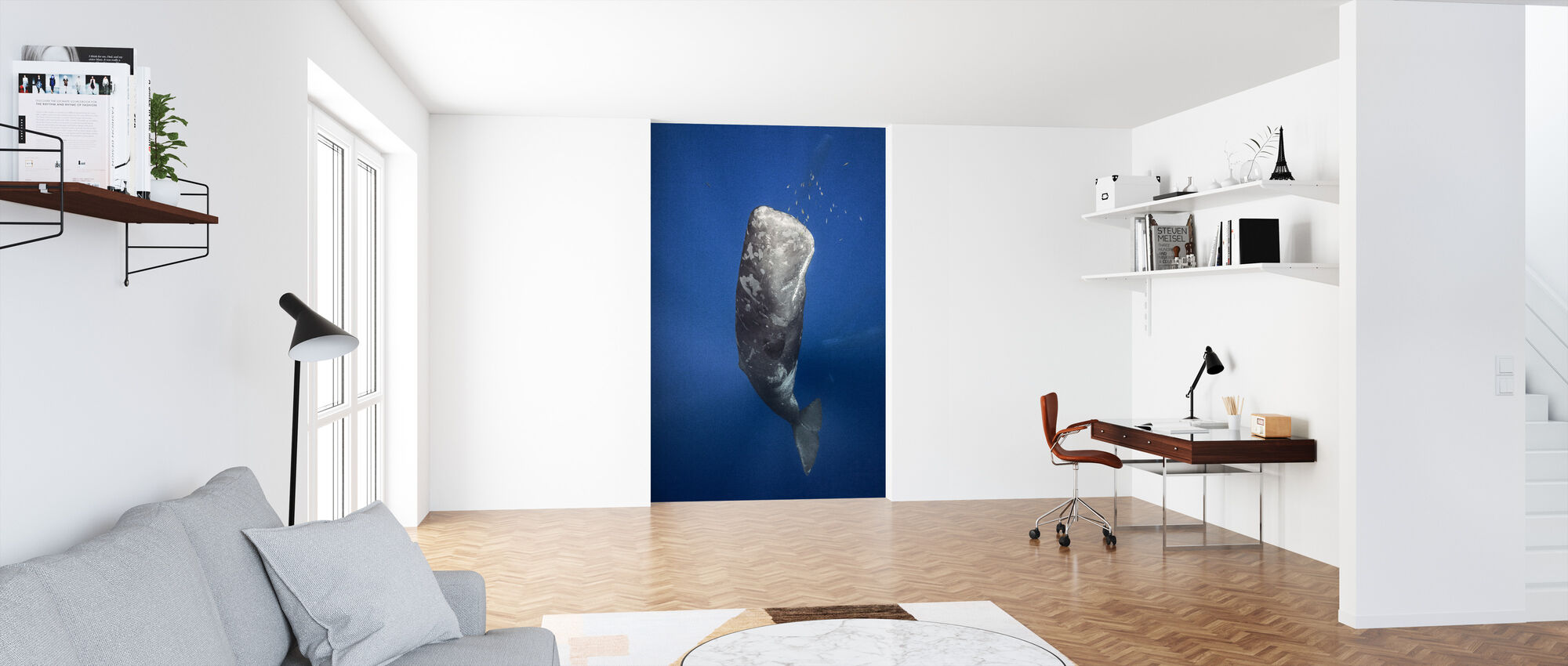 Candle Sperm Whale - Wallpaper - Office