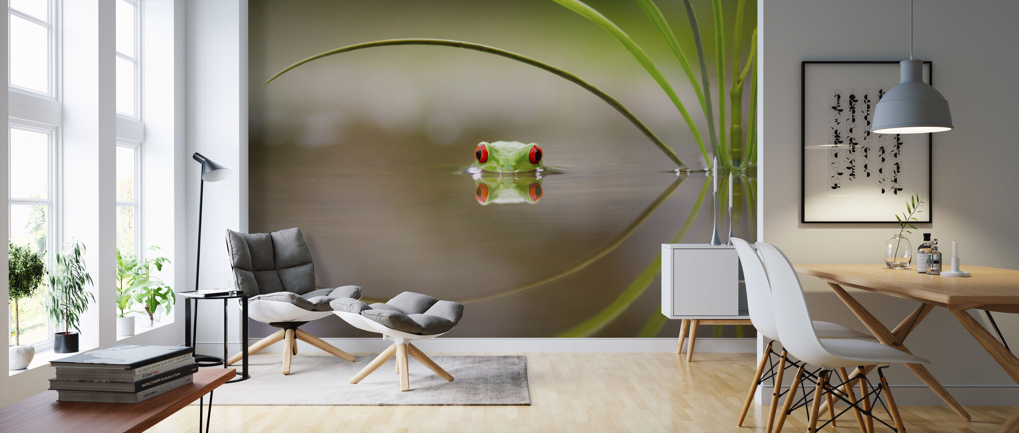 Skønhed af refleksion - Tapet - Stue