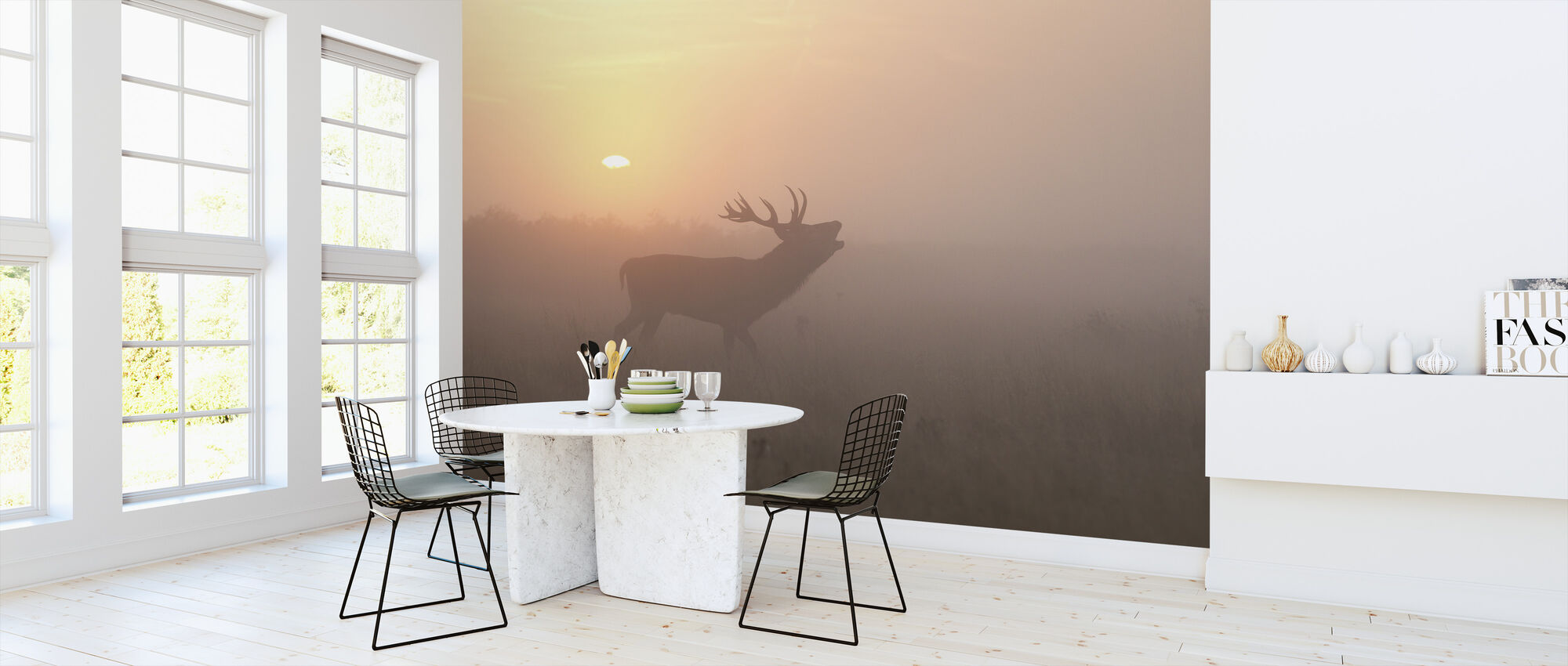 Dimmiga morgon stag - Tapet - Kök