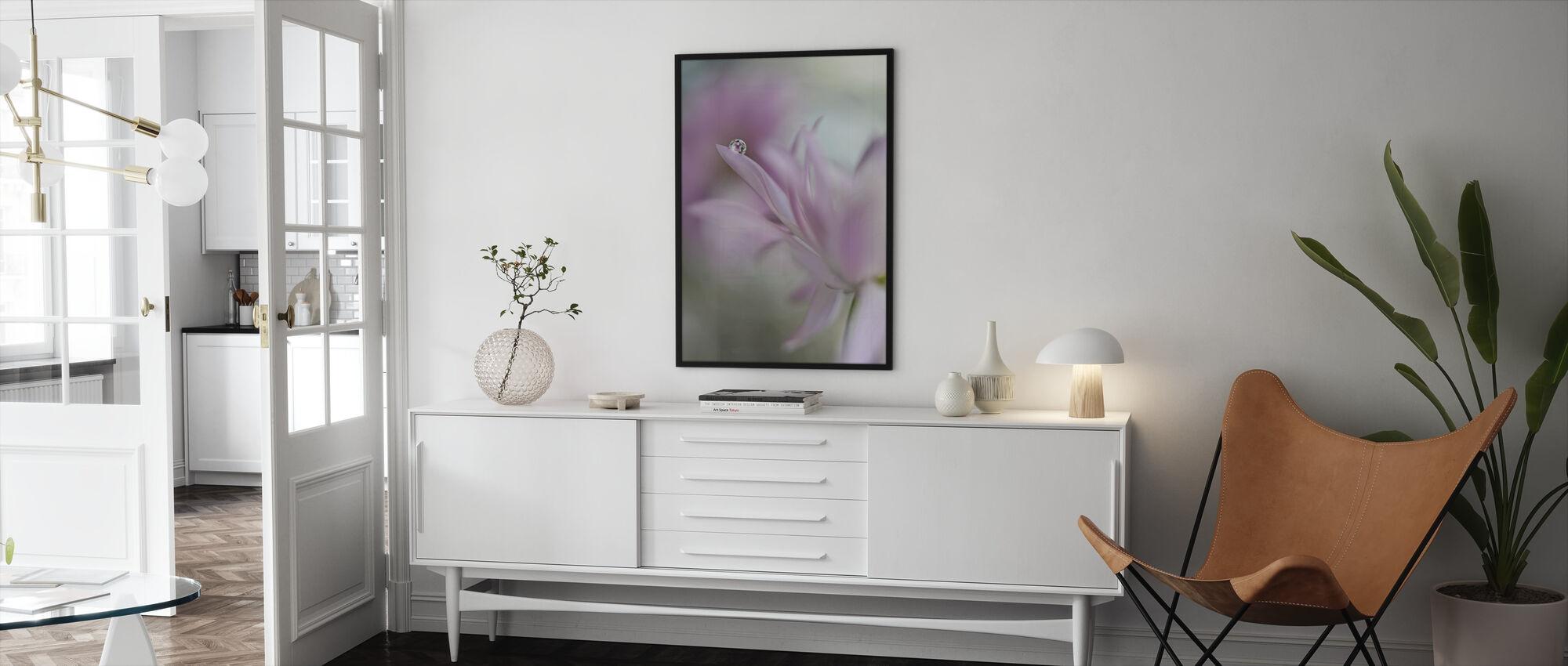 Pinkki Delight - Kehystetty kuva - Olohuone