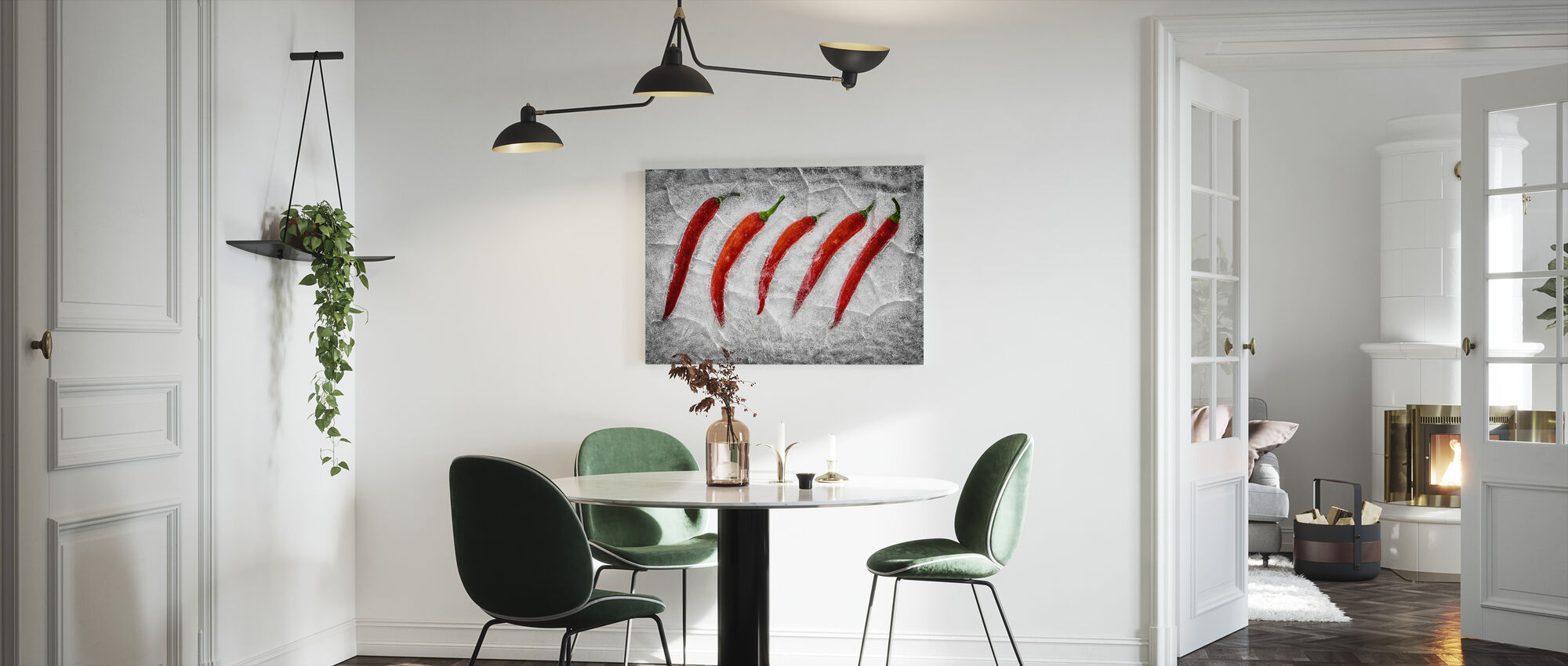 Frozen Fire - Canvas print - Kitchen