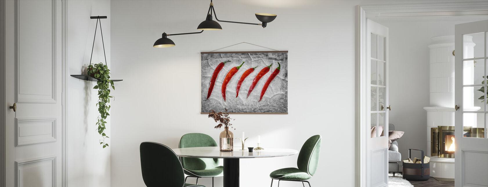 Bevroren vuur - Poster - Keuken