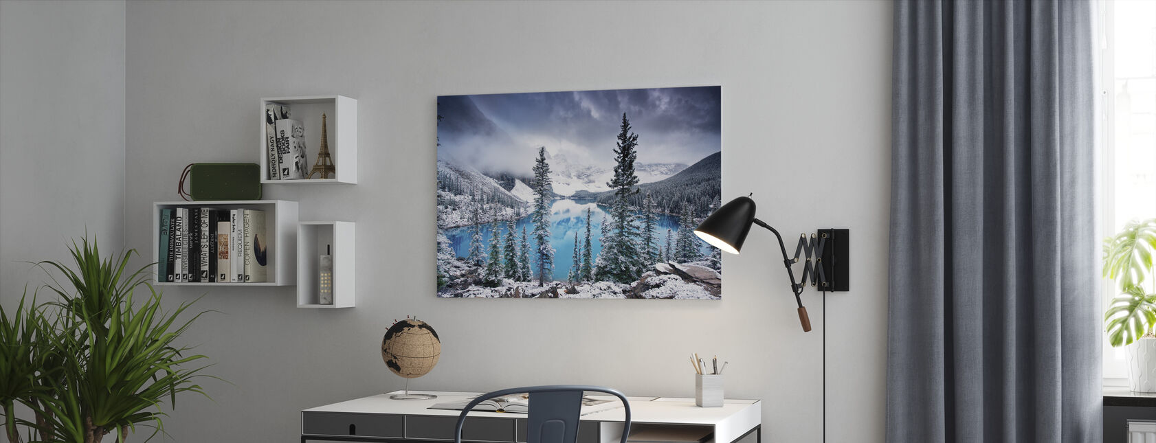 Morning Blues - Canvas print - Office