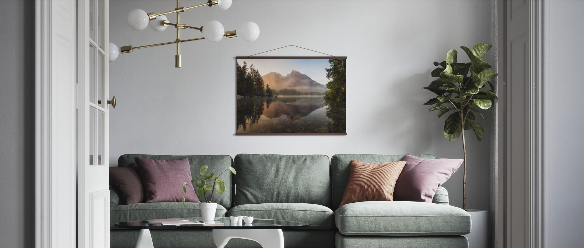 Glowing Mist - Poster - Living Room