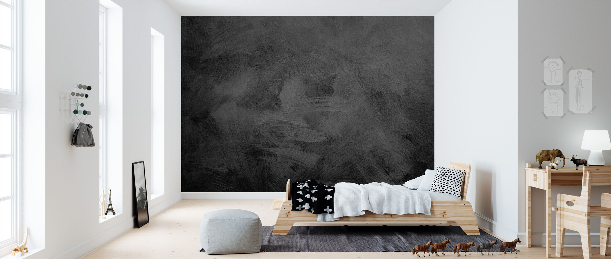 Black Stone Texture - Wallpaper - Kids Room