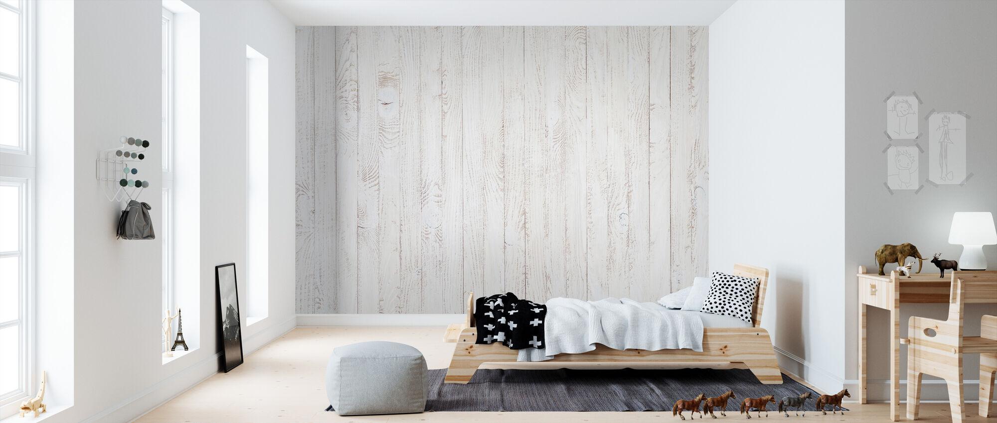 Panel de madera manchada blanca - Papel pintado - Cuarto de niños