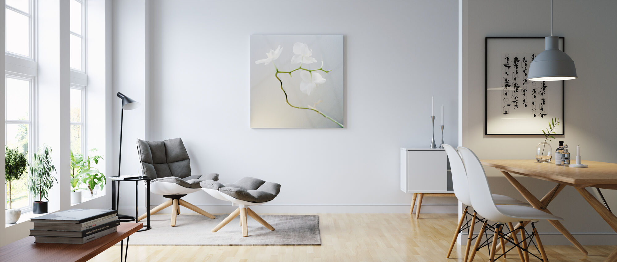 Orchid - Canvas print - Living Room