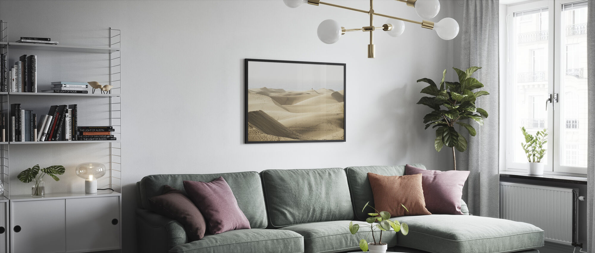 Maspolomas sanddyner - Inramad tavla - Vardagsrum