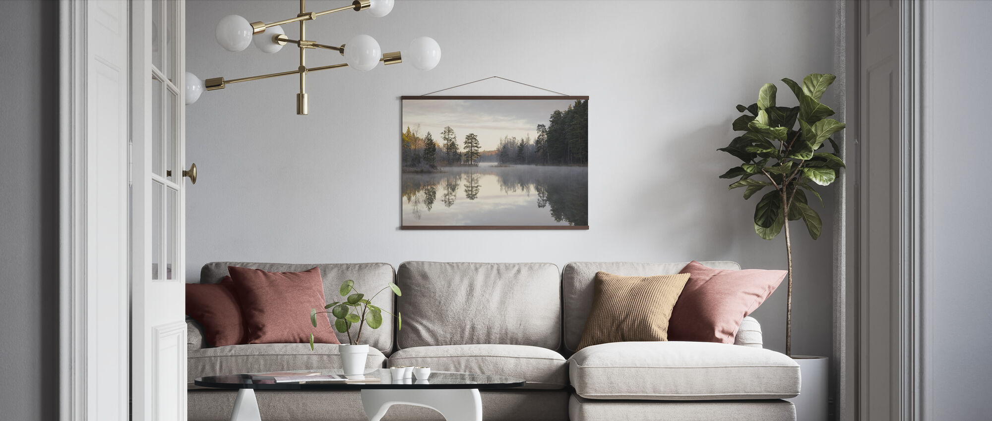 Foggy Morning - Poster - Living Room