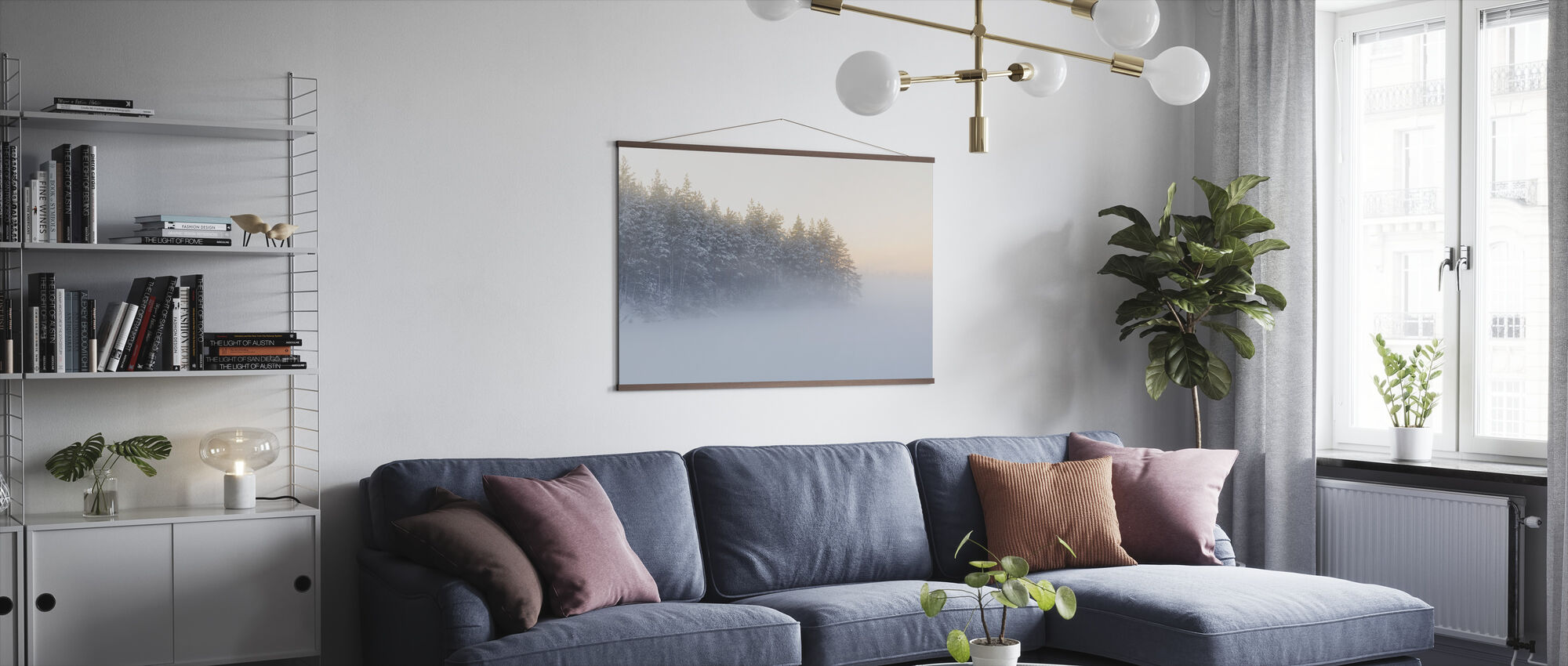 Foggy Winter Landscape - Poster - Living Room