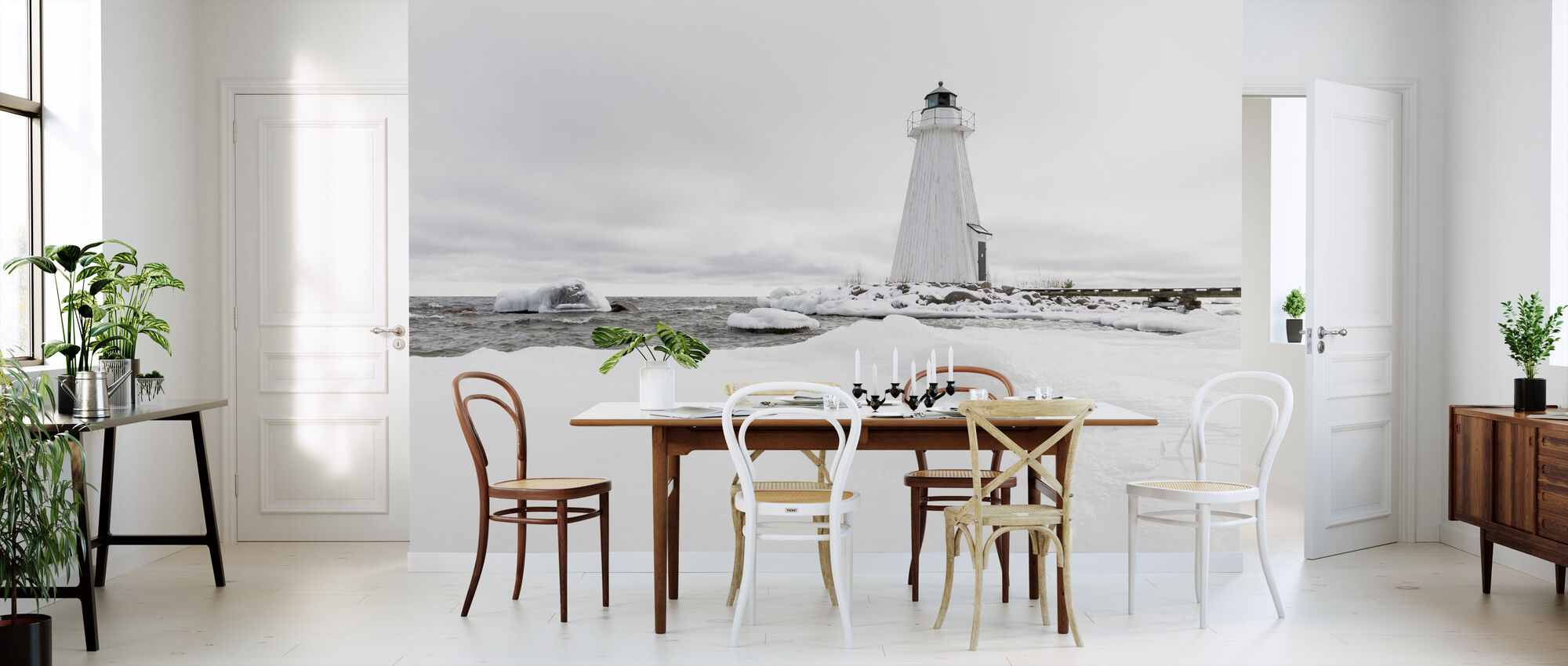 Lighthouse in Winter - Wallpaper - Kitchen
