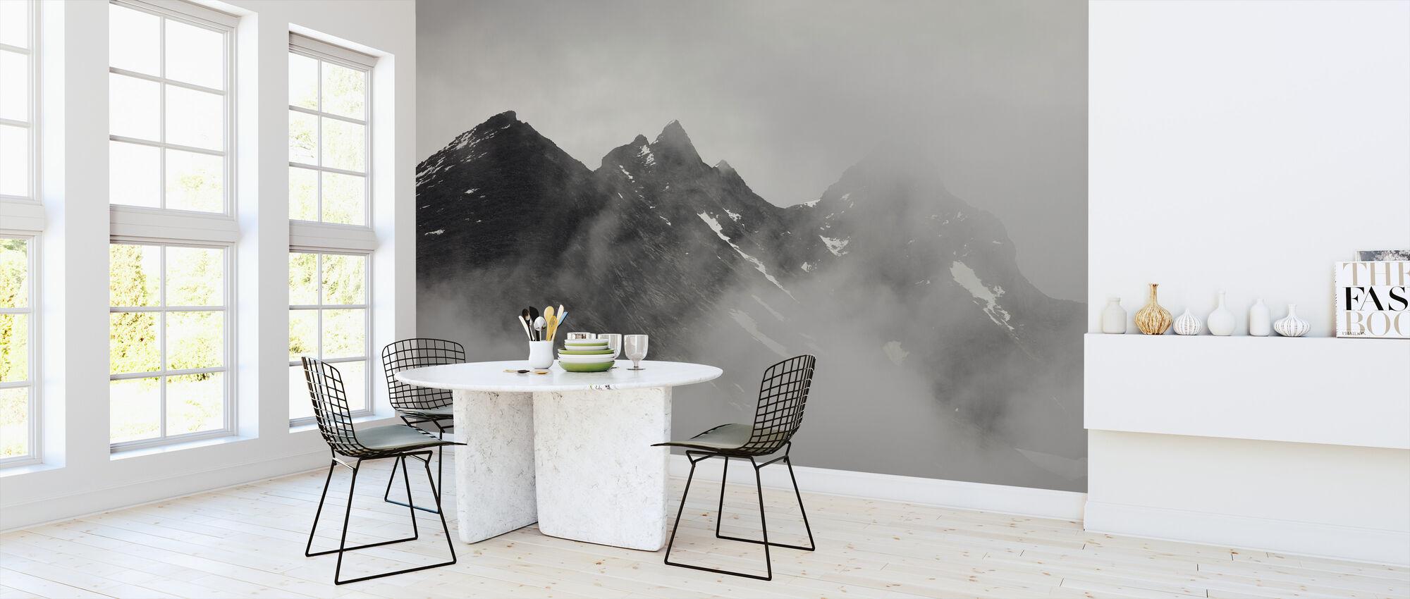Dramatic Mountain View - Wallpaper - Kitchen