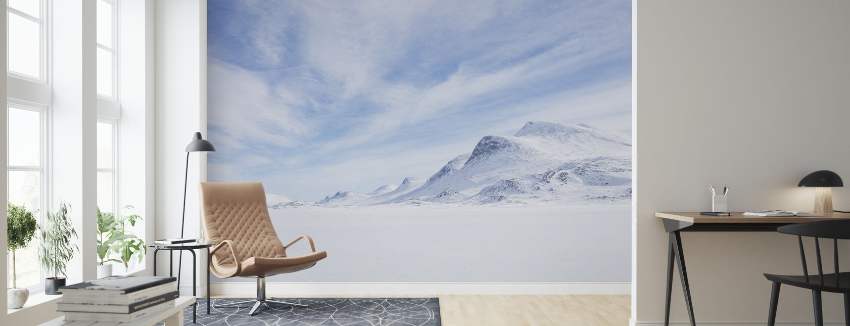 Vinterlandskap i svenska Lappland - Tapet - Vardagsrum