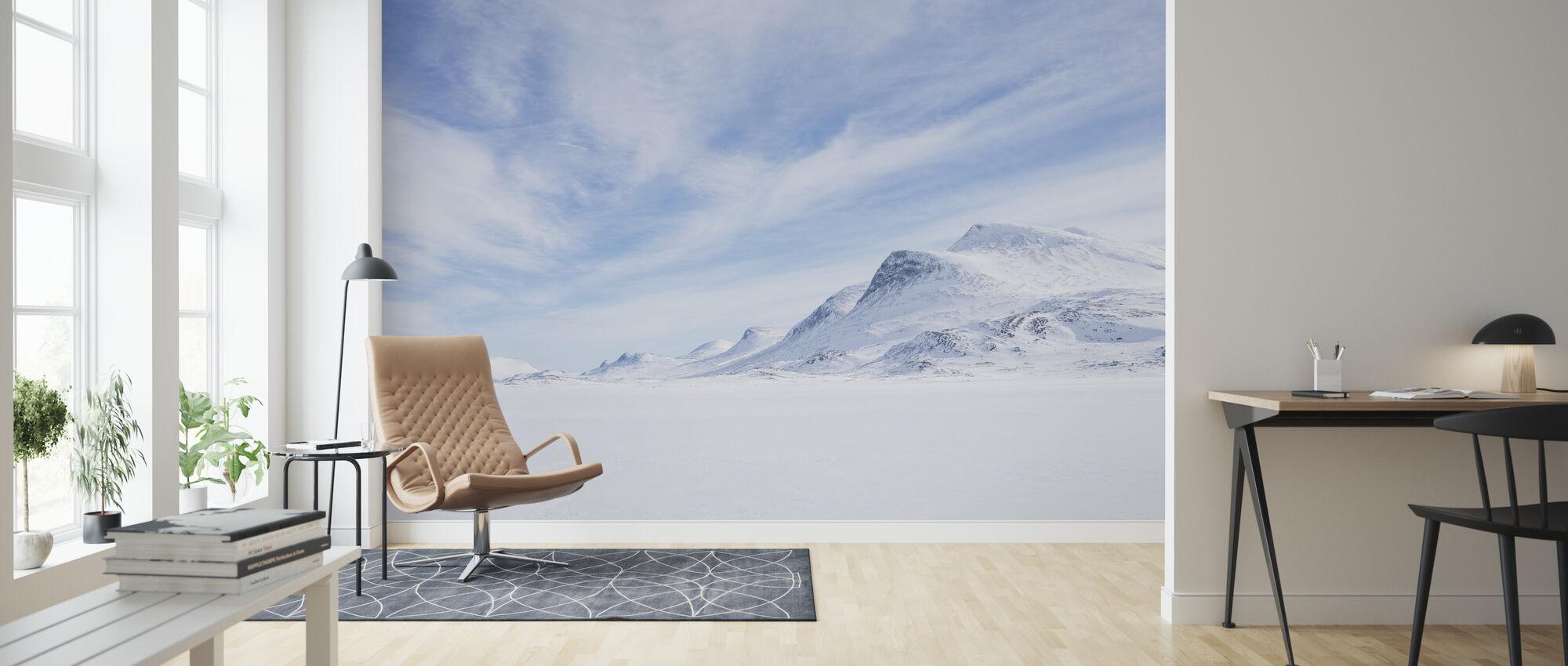 Winter Landscape in Swedish Lapland - Wallpaper - Living Room