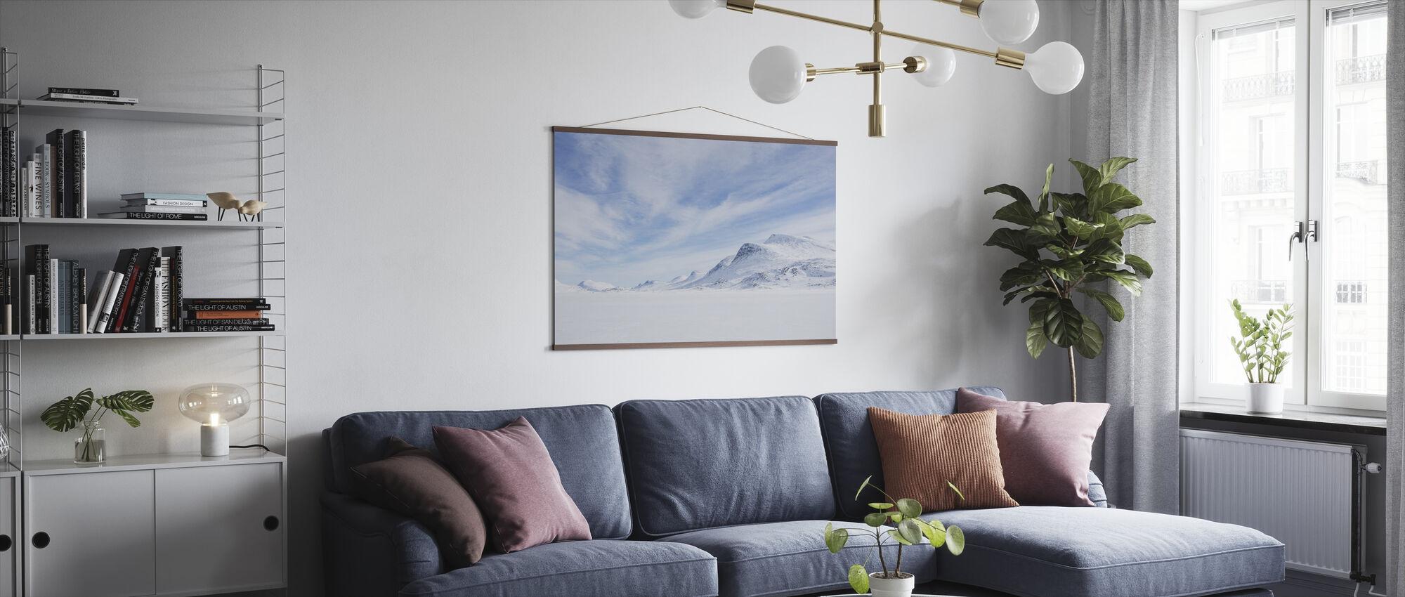 Winterlandschap in Zweeds Lapland - Poster - Woonkamer