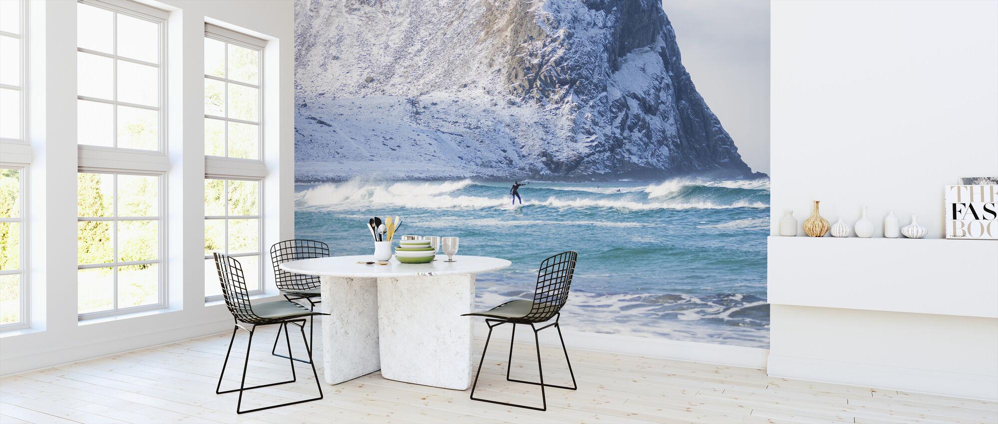 Surfing Lofoten om vinteren - Tapet - Kjøkken