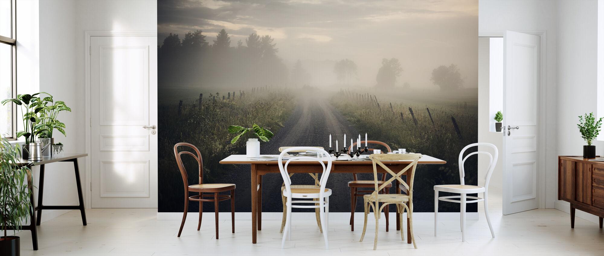 Misty Rural Road - Wallpaper - Kitchen