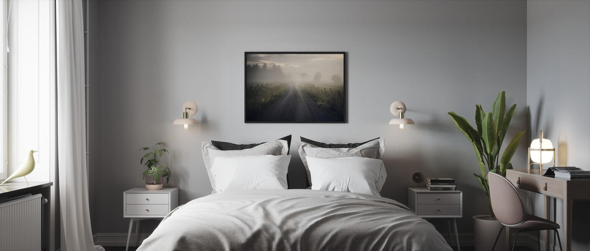 Misty Rural Road - Framed print - Bedroom