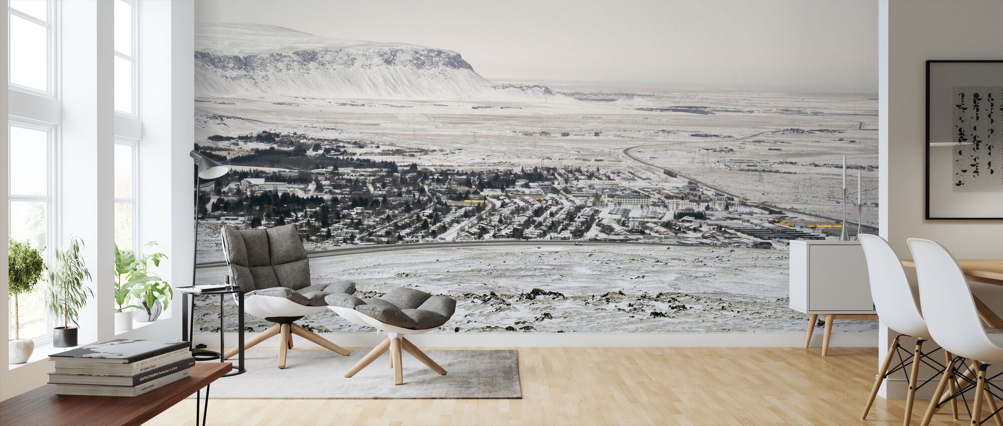 Winter Landscape in Iceland - Wallpaper - Living Room
