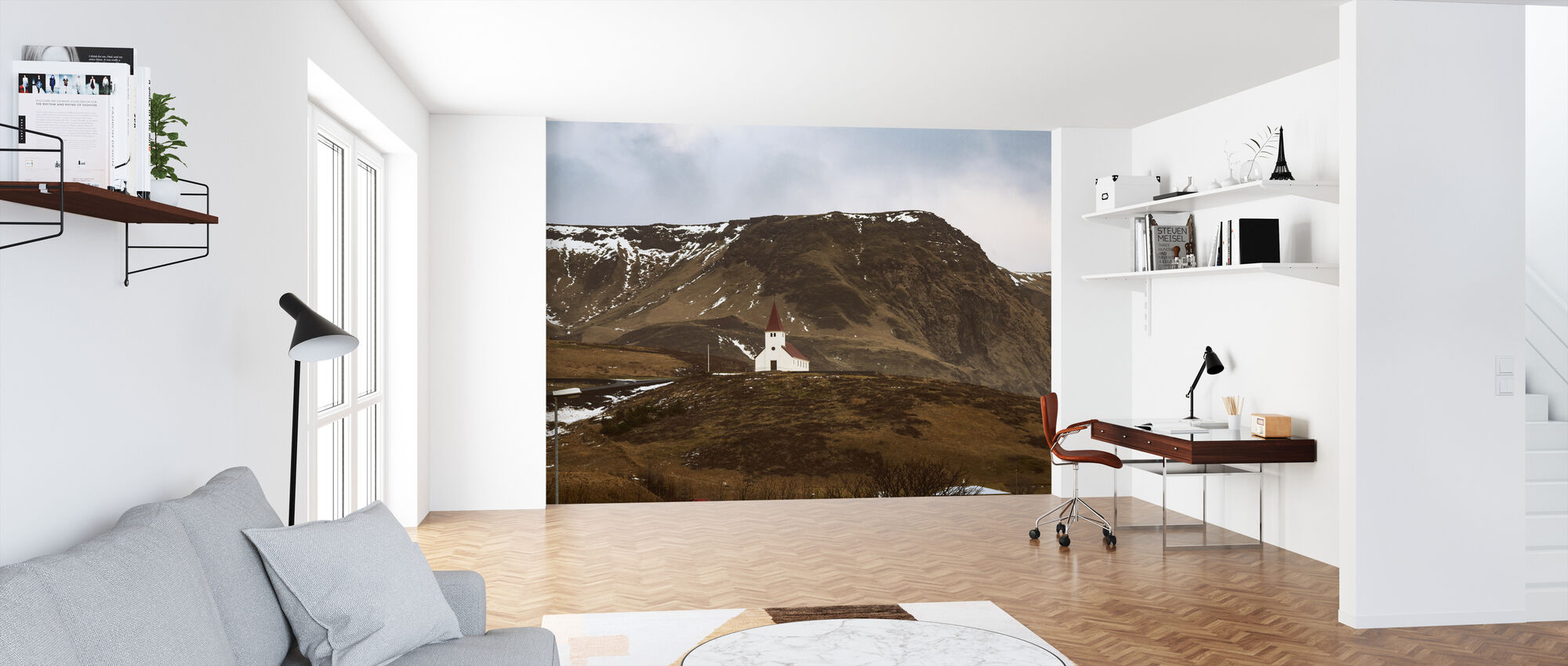 Church in Vik - Iceland - Wallpaper - Office