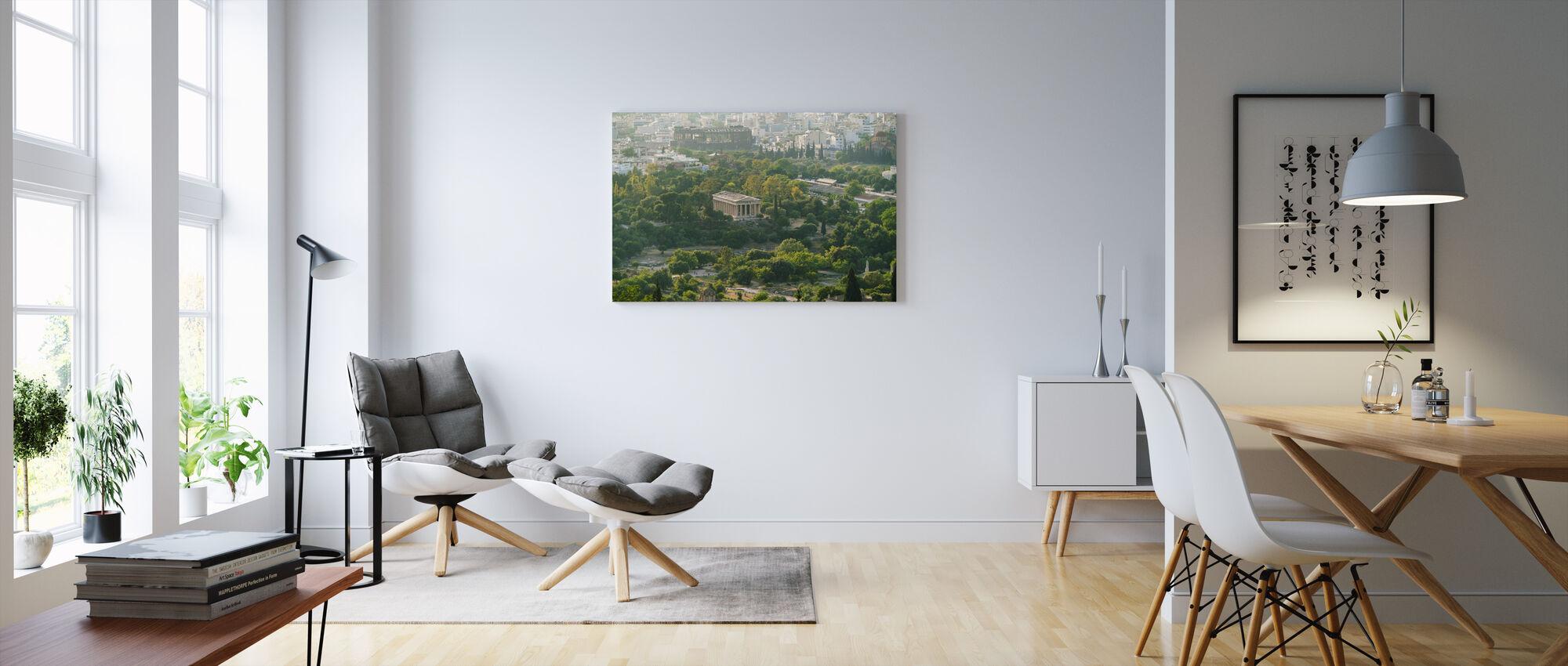 Ateenan kaupunkikuva - Canvastaulu - Olohuone