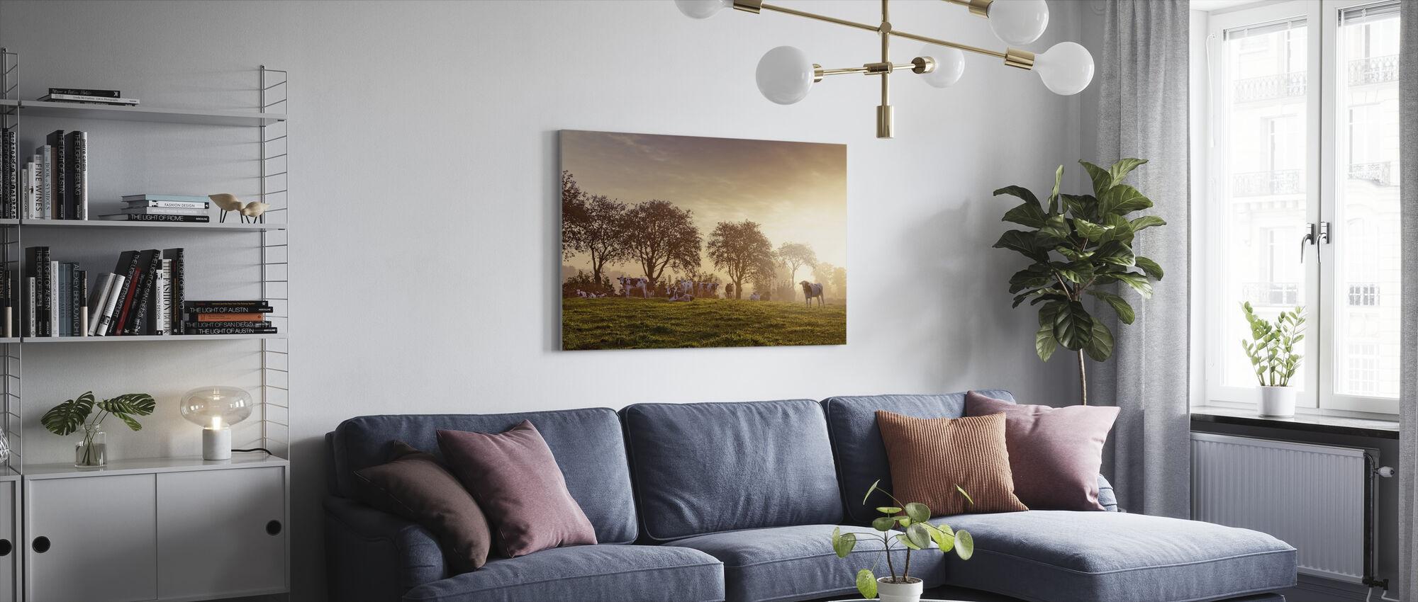 Landlig scene - Lerretsbilde - Stue