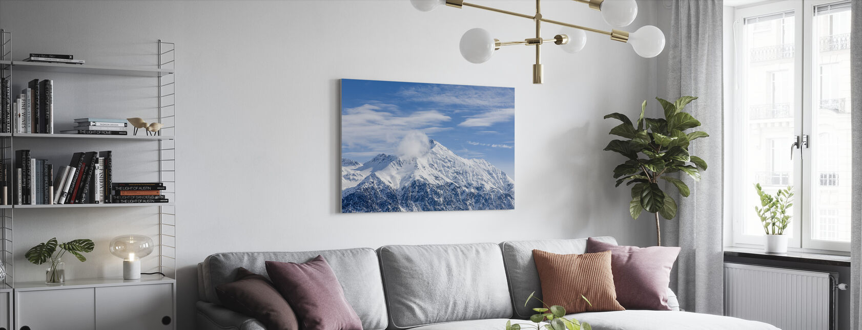 Sveitsiske alpene - Lerretsbilde - Stue