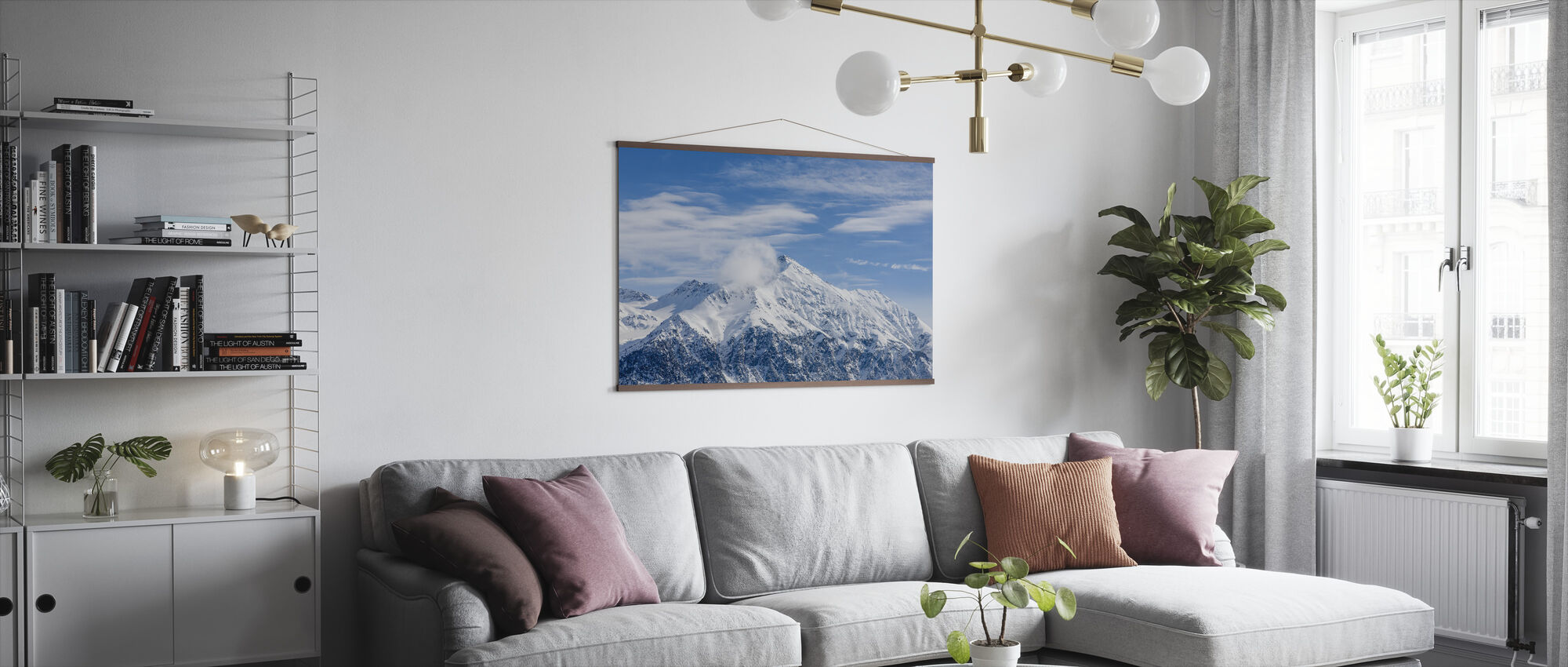 Zwitserse Alpen - Poster - Woonkamer