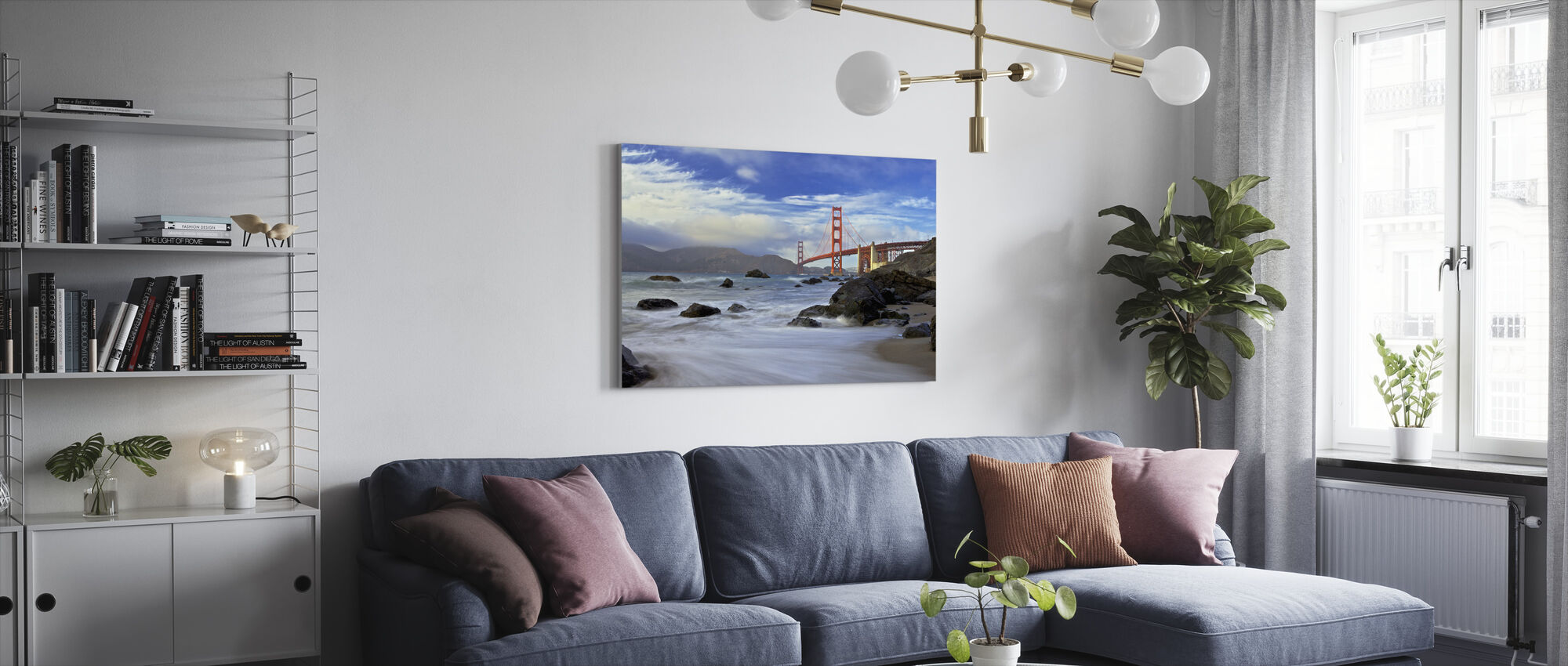Golden Gate Bridge - Canvas print - Living Room