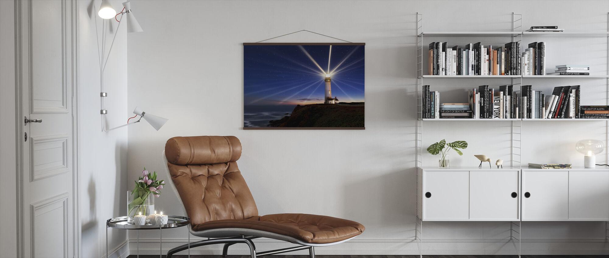 Lighting of the Lens - Poster - Living Room