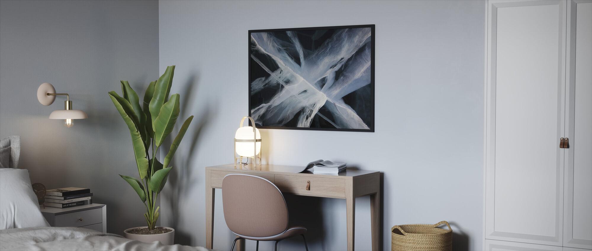 Deep Ice - Framed print - Bedroom