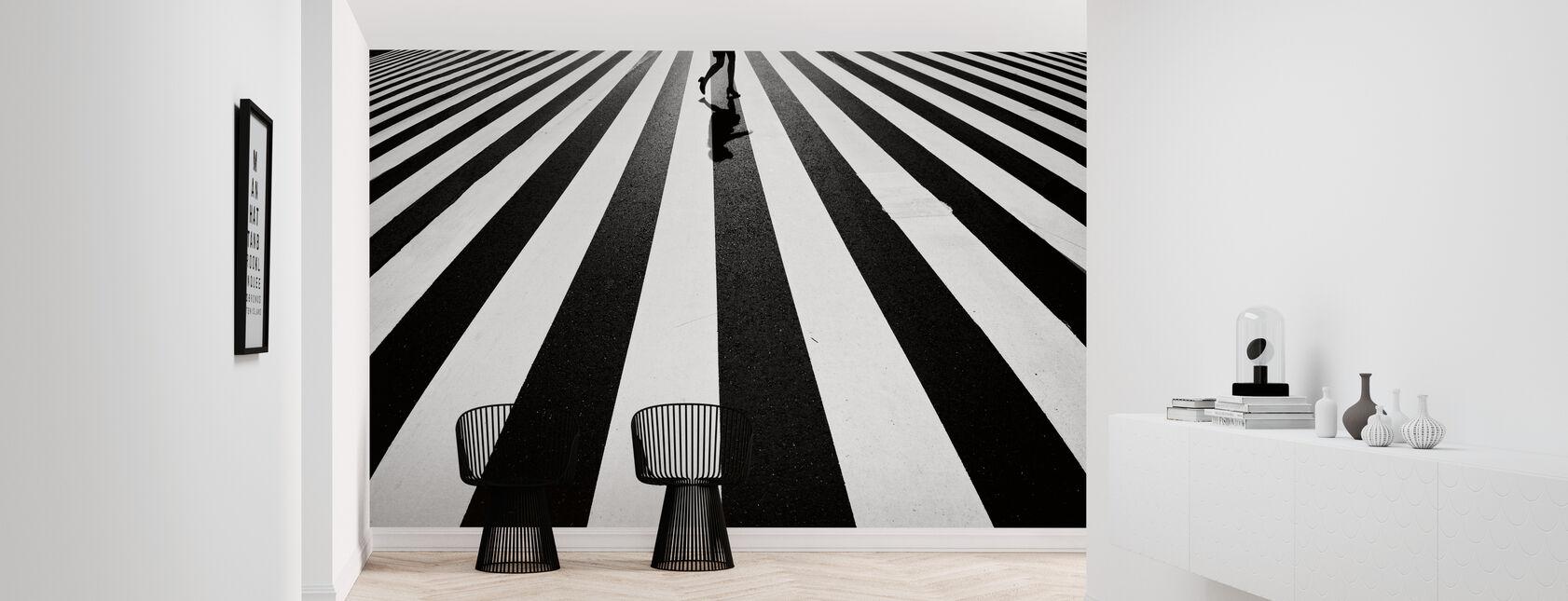 Black and White - Wallpaper - Hallway