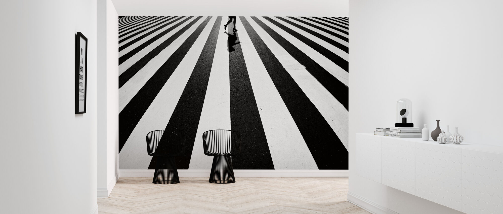 Black and White - Wallpaper - Hallway