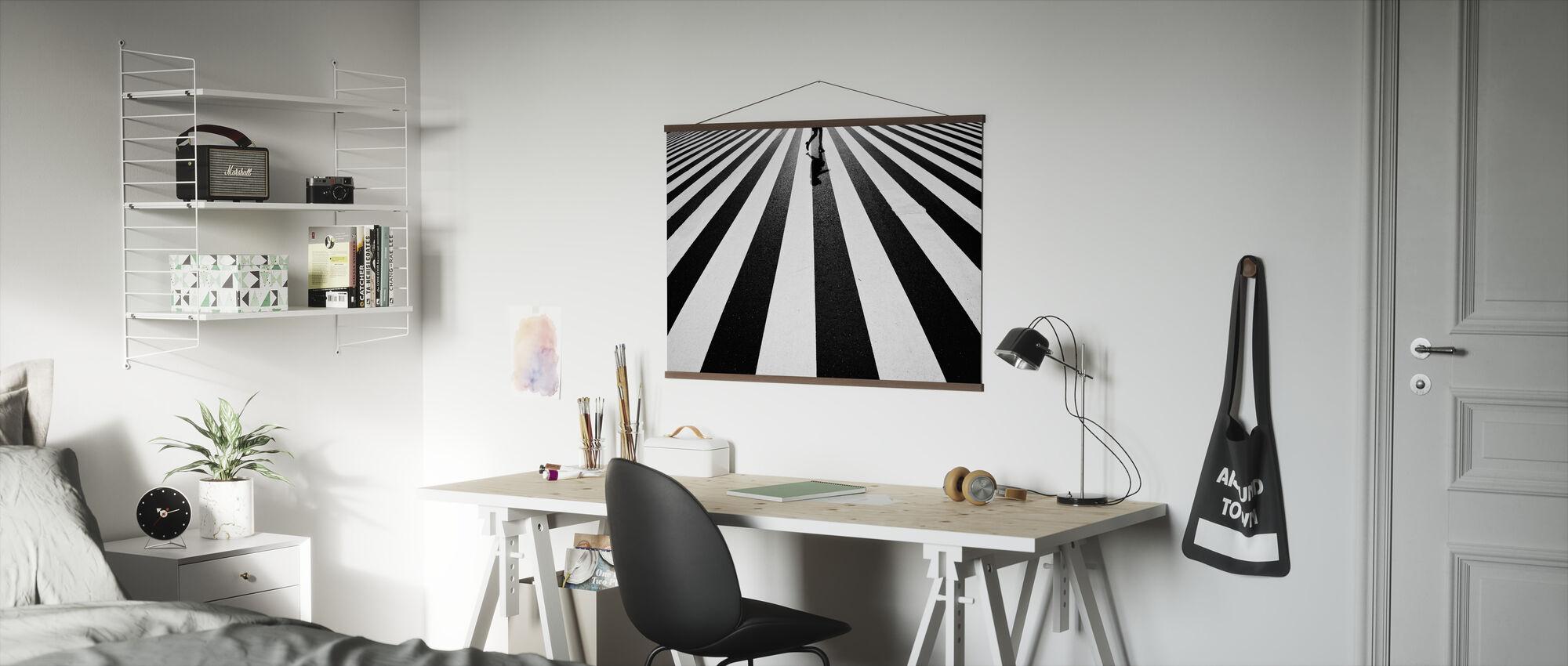 Svart og hvitt - Plakat - Kontor