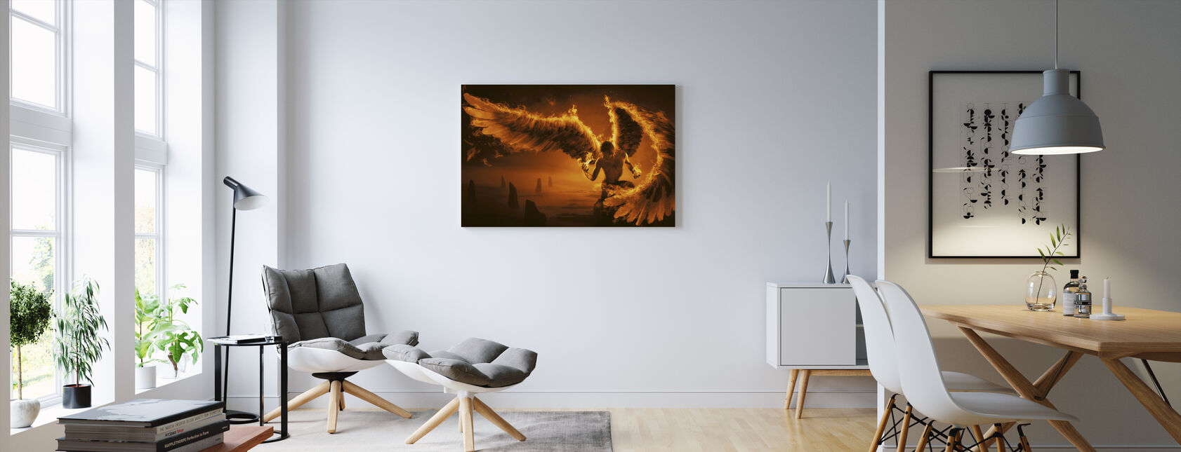 Fiery - Canvas print - Living Room