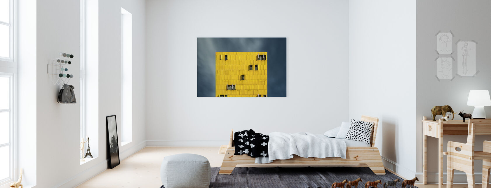 Yellow and Blue - Canvas print - Kids Room