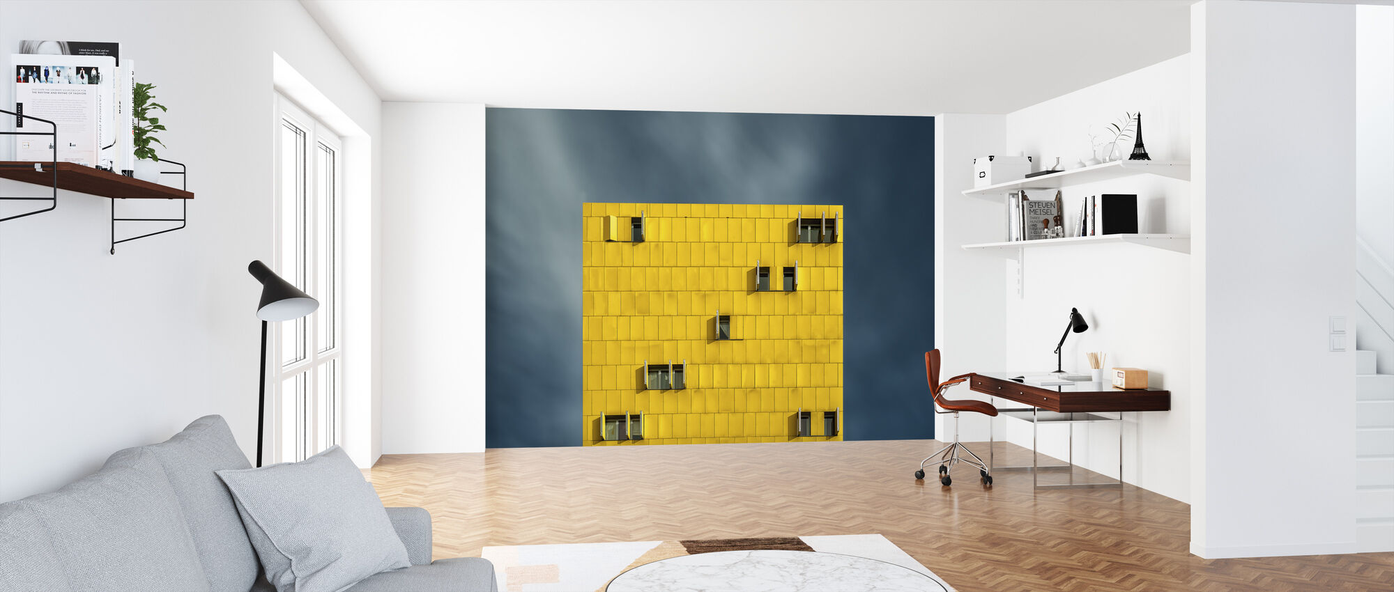 Yellow and Blue - Wallpaper - Office