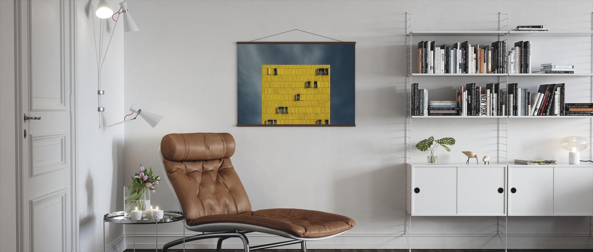 Gelb und Blau - Poster - Wohnzimmer