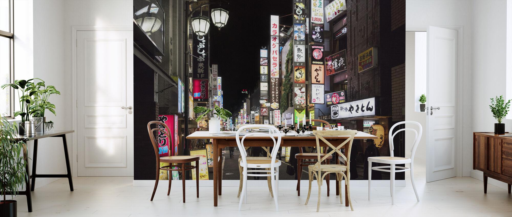 Shibuja at Night Tokyo - Wallpaper - Kitchen