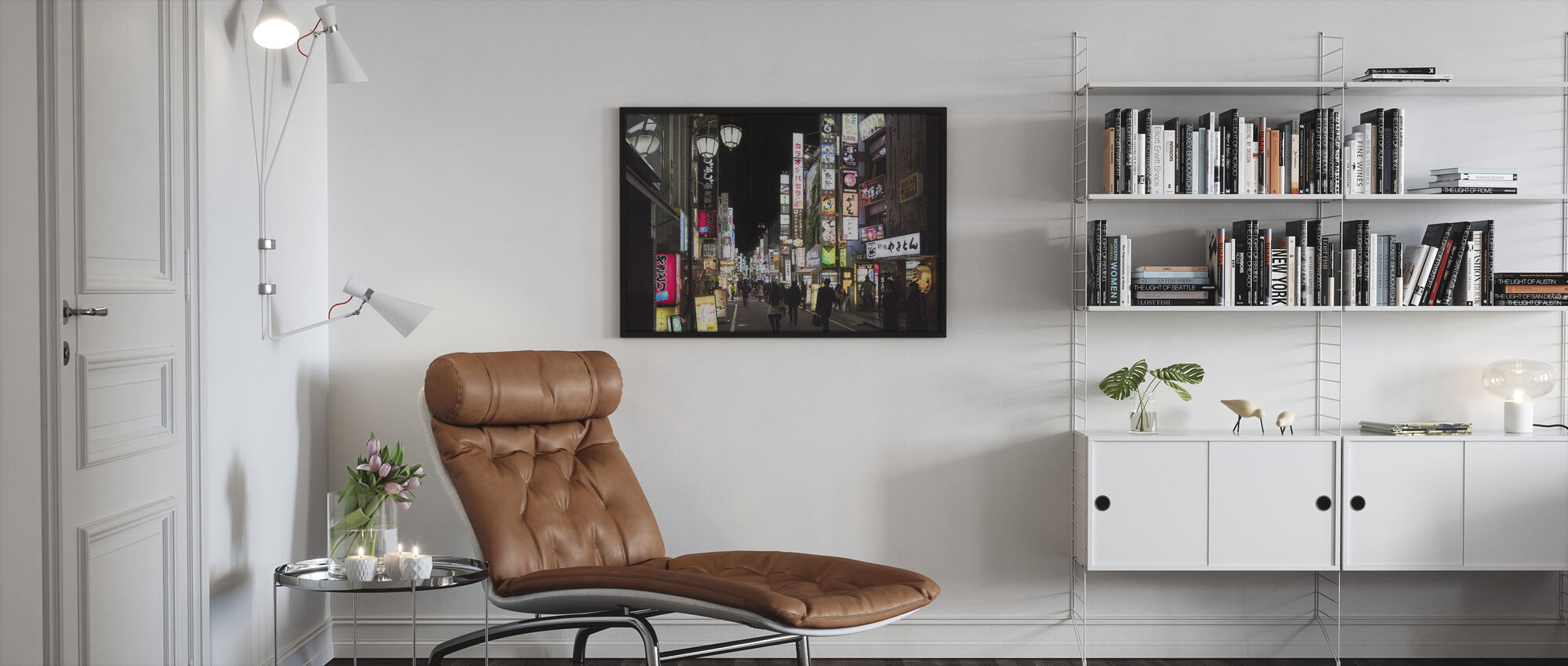 Shibuja at Night Tokyo - Framed print - Living Room