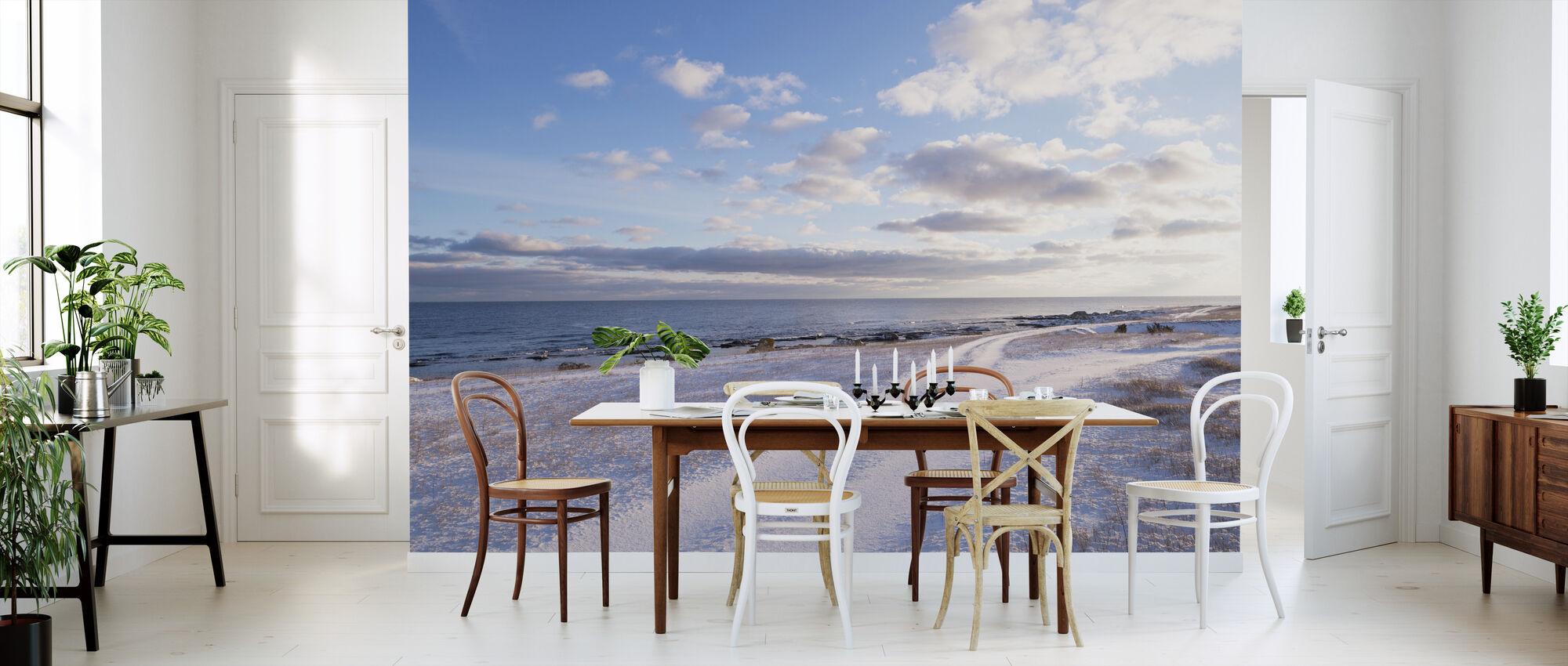 Winter Beach at Gotland - Wallpaper - Kitchen