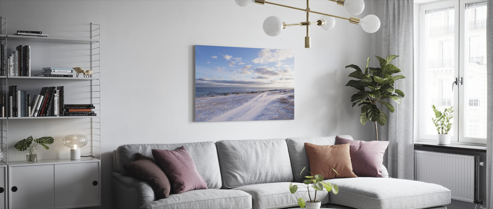 Winter Beach at Gotland - Canvas print - Living Room
