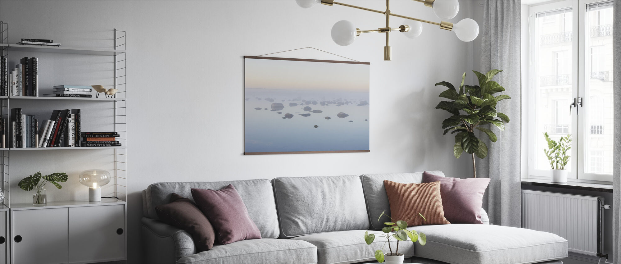 Foggy Morning at Oland - Poster - Living Room