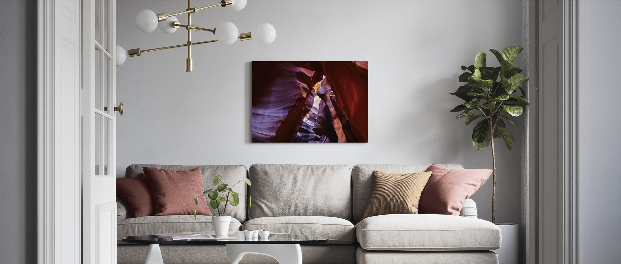 Antelope Canyon - Canvas print - Living Room