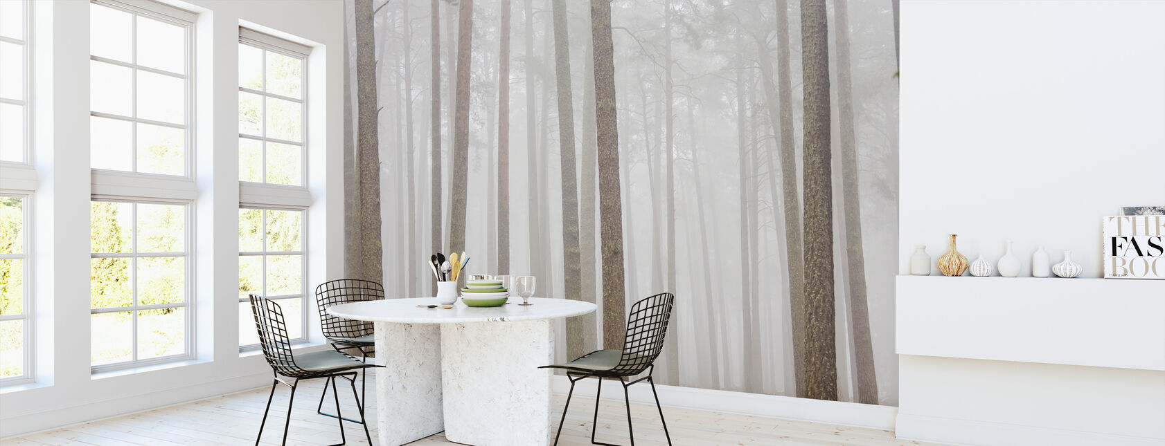 Misty Trees - Wallpaper - Kitchen