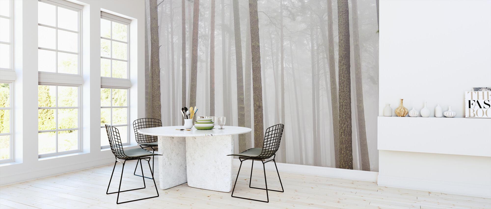 Misty Trees - Wallpaper - Kitchen