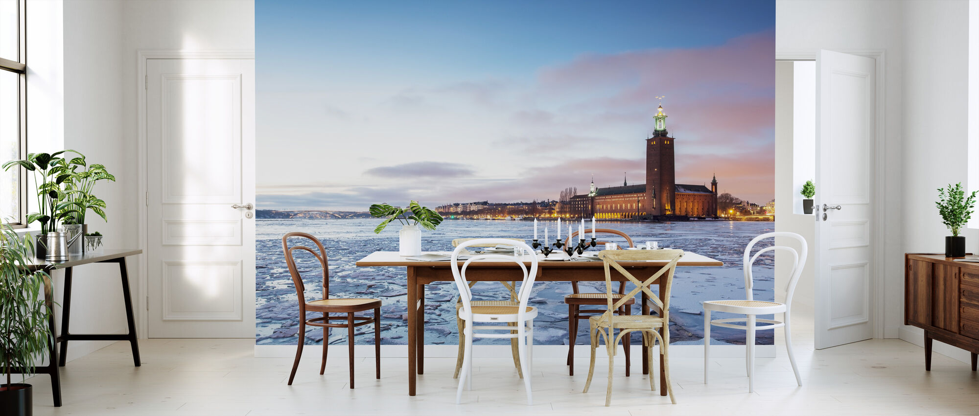 Stockholms stadshus på vintern - Tapet - Kök