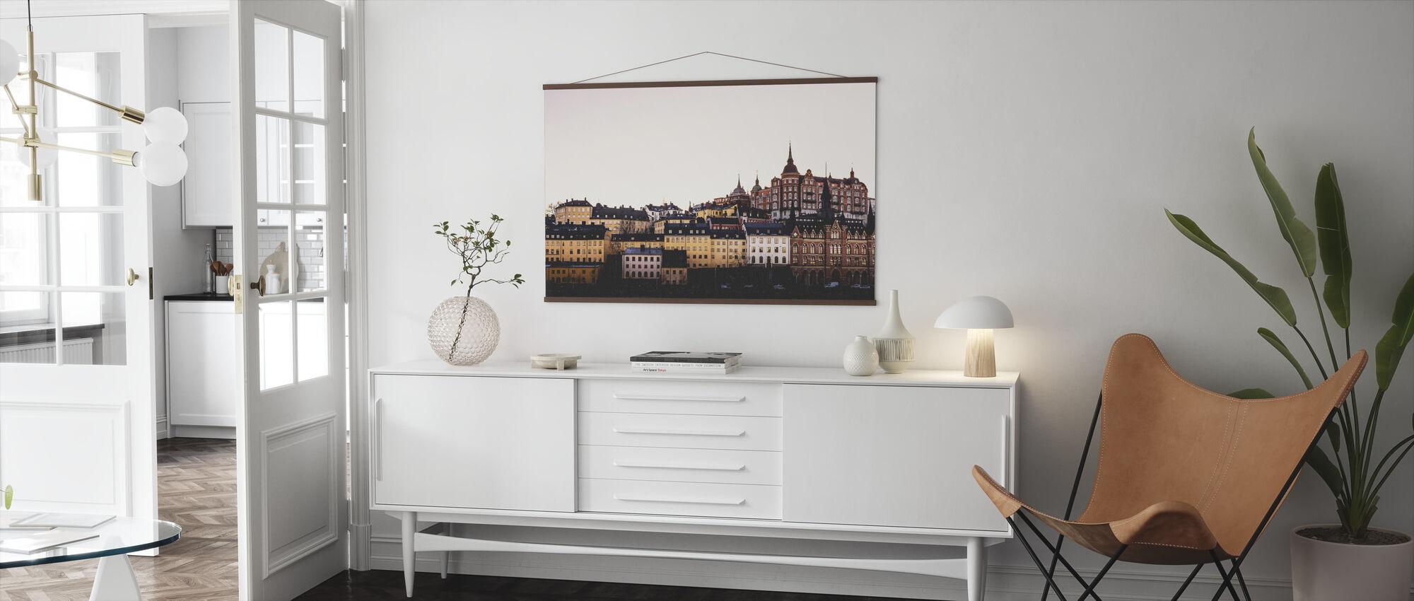 Södermalm Skyline - Poster - Vardagsrum