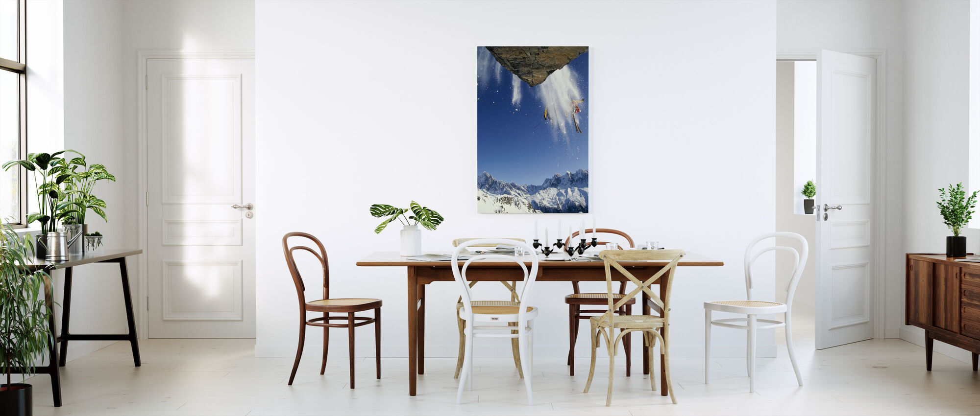 Off Piste Skiing at Mont Blanc - Canvas print - Kitchen