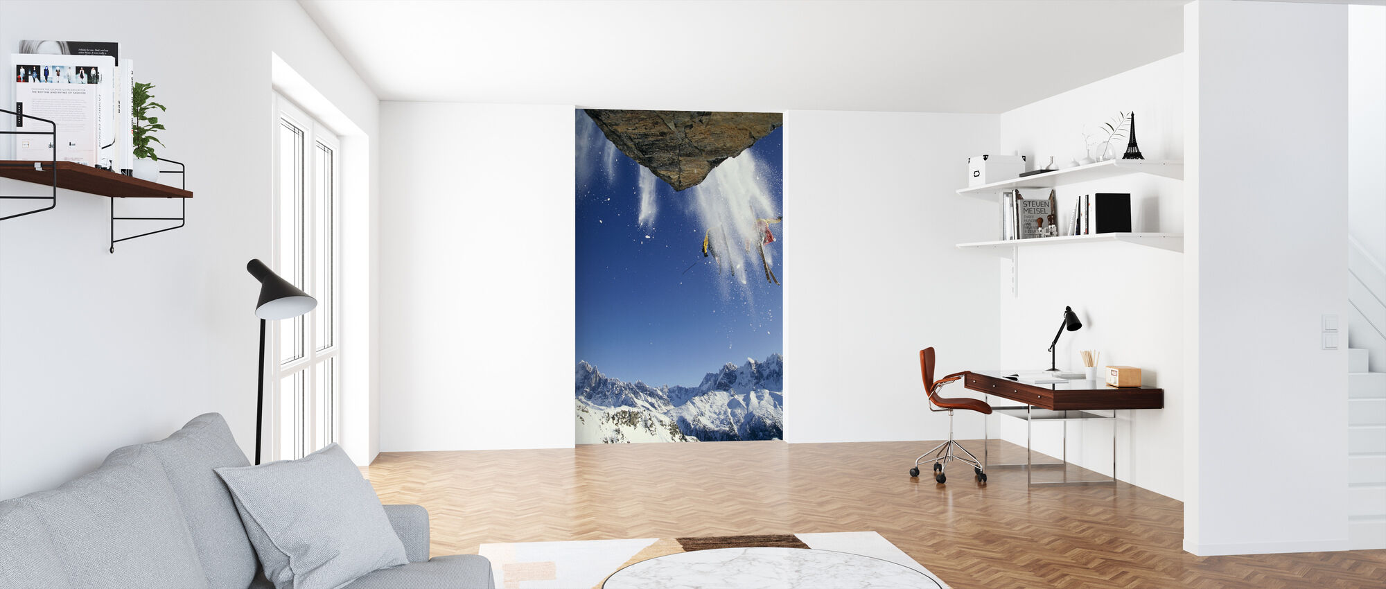 Off Piste Skiing at Mont Blanc - Wallpaper - Office